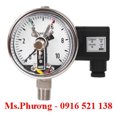 Đồng hồ áp suất Wise có tiếp điểm điện P510