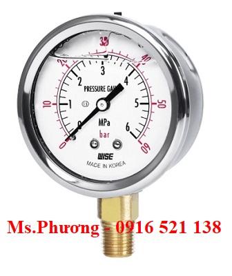 Đồng hồ áp suất Wise Model P254