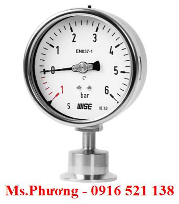 Đồng hồ áp suất Wise dạng màng P752S
