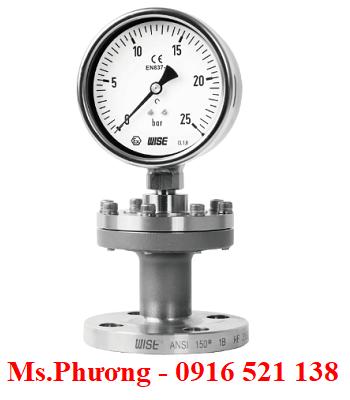 Đồng hồ áp suất màng Wise model P720