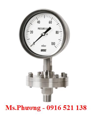 Đồng hồ áp suất Wise dạng màng P428, P429