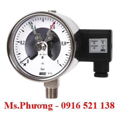 Đồng hồ áp suất wise có tiếp điểm điện P520