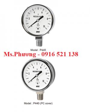 Đồng hồ áp suất wise áp thấp P440