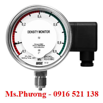 Đồng hồ áp suất wise đo mật độ khí SF6 model P590