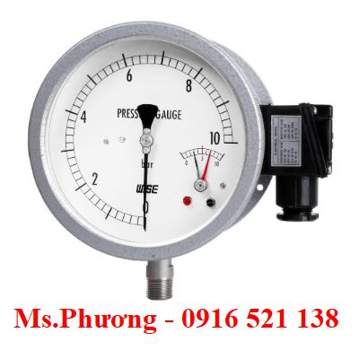Đồng hồ áp suất wise có tiếp điểm điện P535, P536