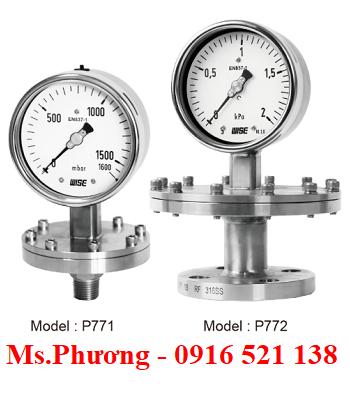 Đồng hồ áp suất wise dạng màng model P770