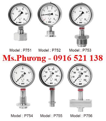 Đồng hồ áp suất Wise dạng màng P750 series