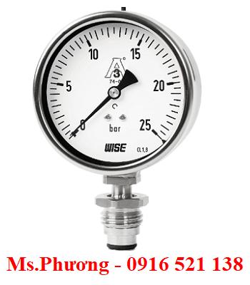 Đồng hồ áp suất Wise dạng màng P753S