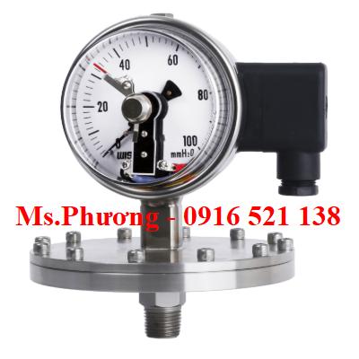 Đồng hồ áp suất Wise có tiếp điểm điện P570