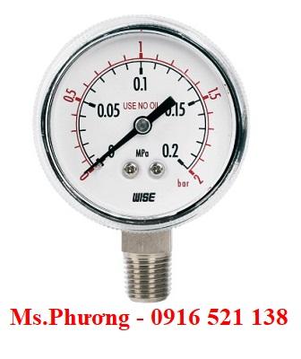 Đồng hồ đo áp suất wise P113