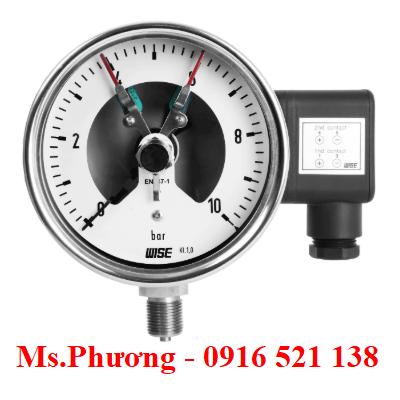 Đồng hồ áp suất wise có tiếp điểm P500